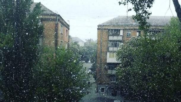 Майский снег в Киеве