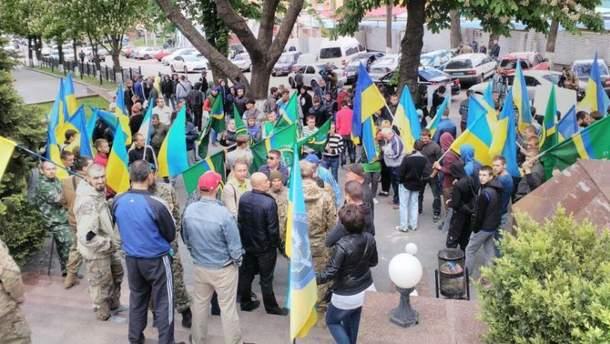 Пикет ветеранов АТО в Днепре