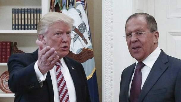 Трамп і Лавров під час зустрічі у Вашингтоні