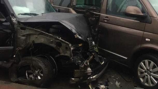 Авария, в которую попал работник НАБУ