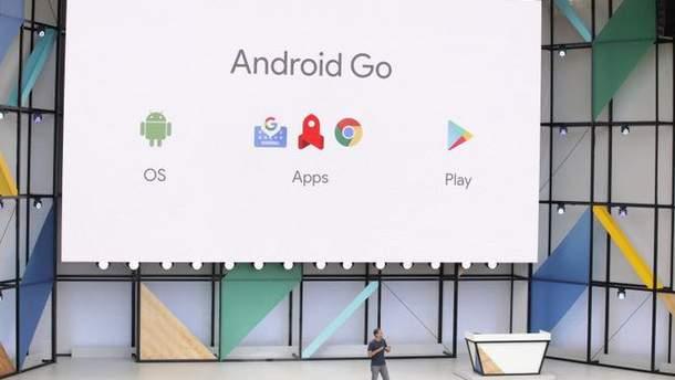 Презентация программного обеспечения Android Go