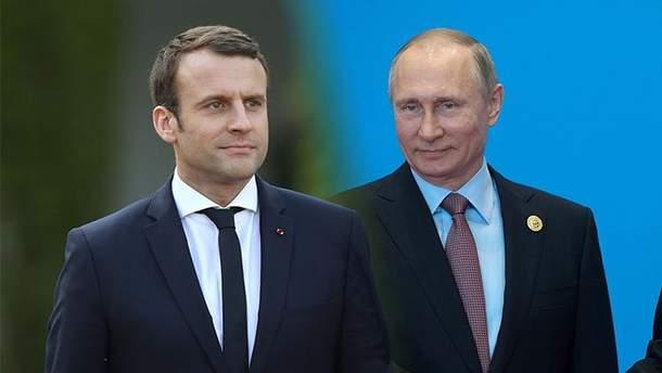 Президент России Владимир Путин впервые провел телефонный разговор с президентом Франции Эммануэлем Макроном