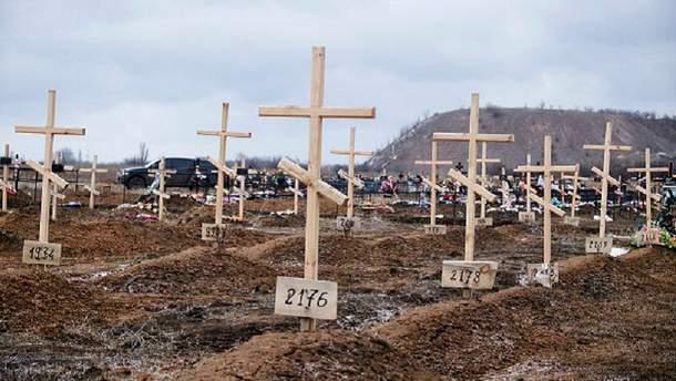 Захоронения на Донбассе