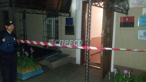 Взрыв возле офиса КУН