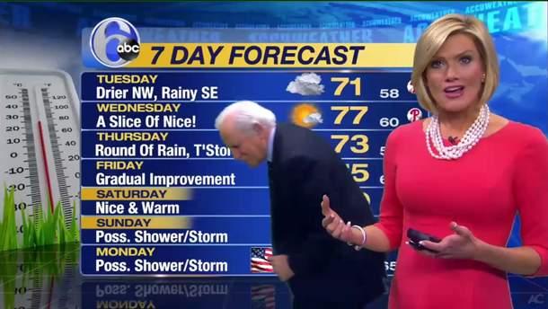 Курьезная ситуация в эфире прогноза погоды