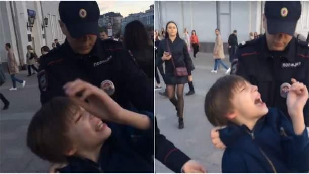 Задержание ребенка в Москве