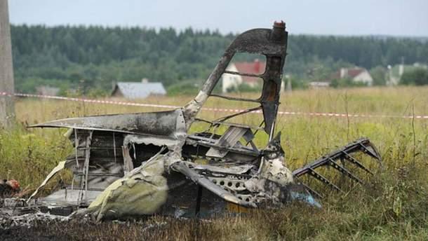Авария самолета вблизи Москвы