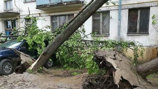 Потужний ураган в Москві