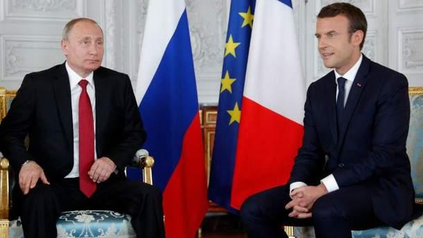 Зустріч Путіна та Макрона