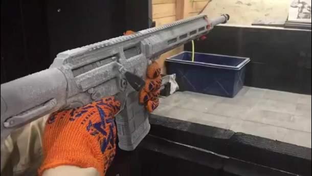 В Украине испытали замороженную винтовку в условиях экстремального холода