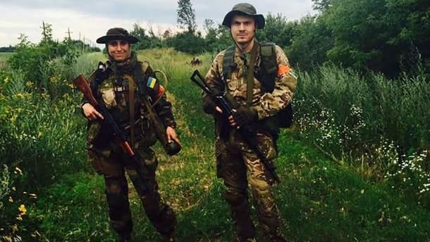 Амина Окуева и Адам Осмаев на Донбассе
