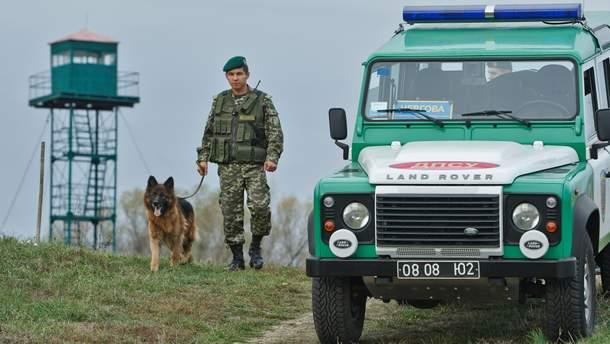 Работа украинского пограничника