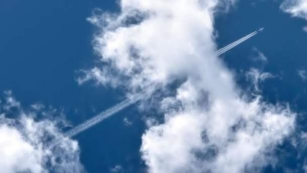 Авария самолета ООН (Иллюстрация)
