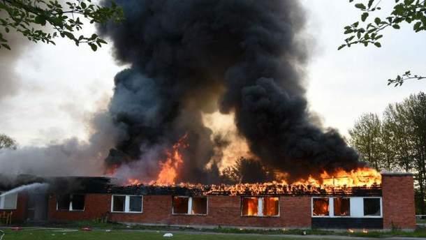 Пожежа в центрі для біженців