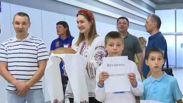 В Киеве встретили чемпионов