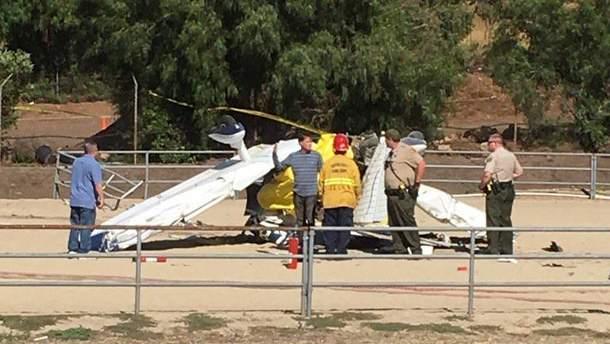 Місце аварії літака