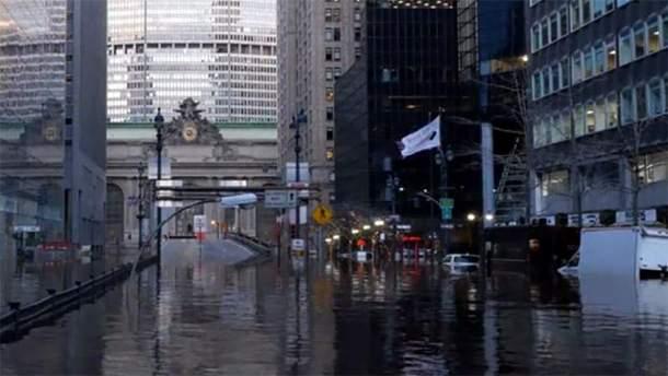 """""""Затоплений"""" Нью-Йорк"""
