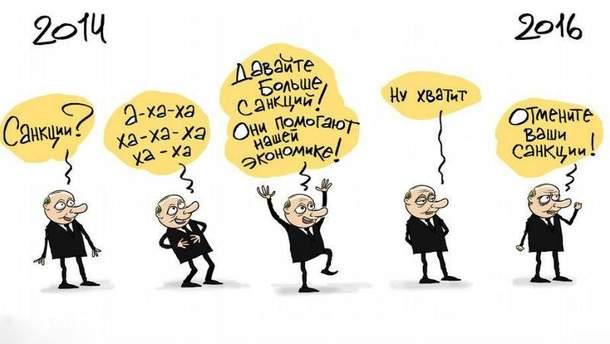 Санкции против России (Карикатура)