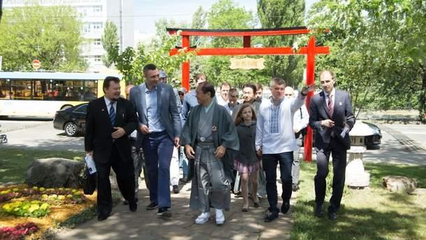 Віталій Кличко разом з мером Кіото