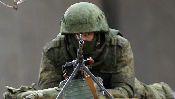 Український війьсковий в зоні АТО