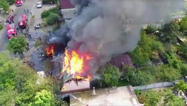 Відео пожежі в Києві