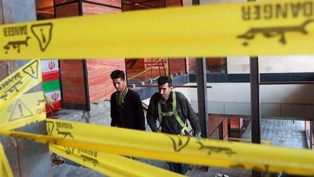 Авария в метро в Тегеране