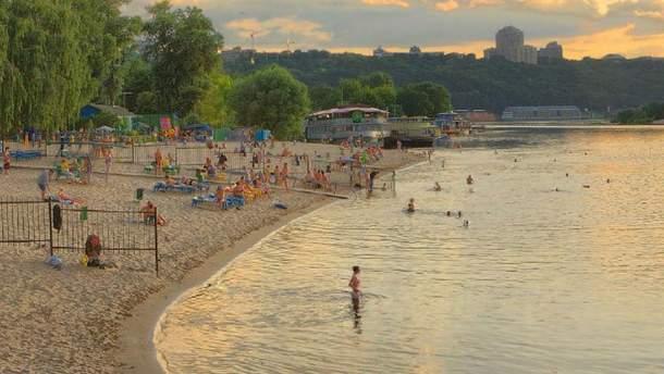 Список пляжей в Киеве
