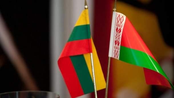 Прапори Литви та Білорусі