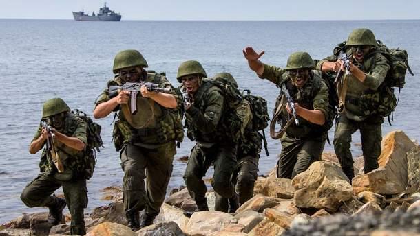 Россия перебросила в Крым морскую пехоту из Каспия