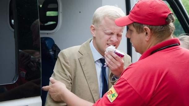 Шабунин ударил Филимоненко, после чего антикоррупционера облили из газового баллончика