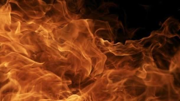 На военном складе произошел пожар