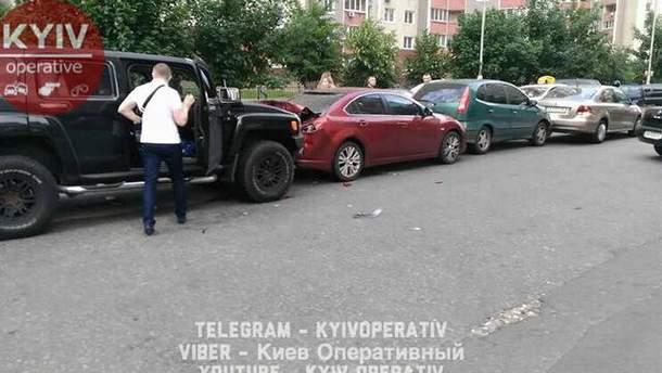 ДТП в Киеве с участием 5 автомобилей