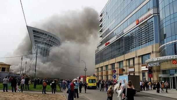 Фото пожежі на Київському вокзалі в Москві