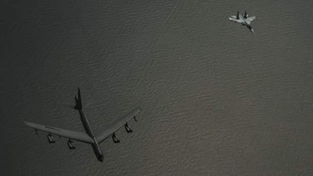 Как выглядел перехват бомбардировщиков США российским истребителем: впечатляющие фото
