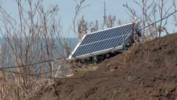 Волонтери подарували бійцям АТО сонячні панелі