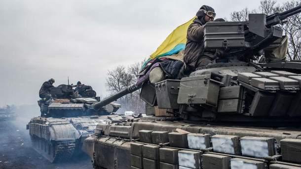 Украинские военные в зоне АТО. Авдеевка