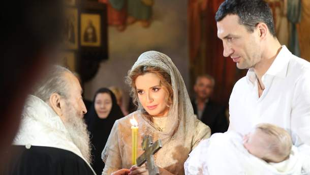 Оксана Марченко и Владимир Кличко стали крестными