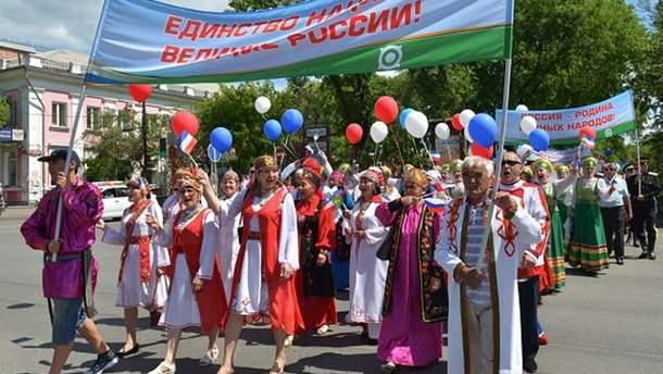 День России: оккупанты сгоняют на празднование жителей Симферополя