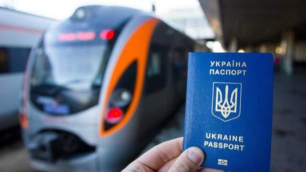 Украинцы едут в ЕС без виз