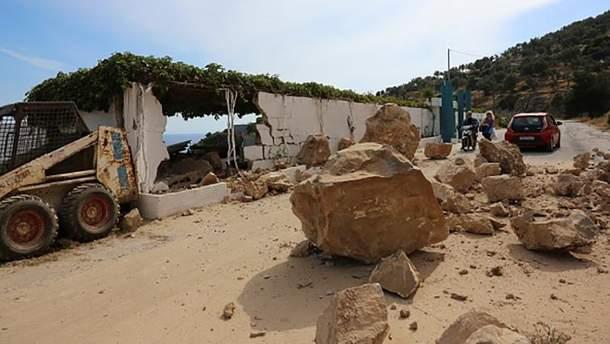 Последствия землетрясения на Лесбосе