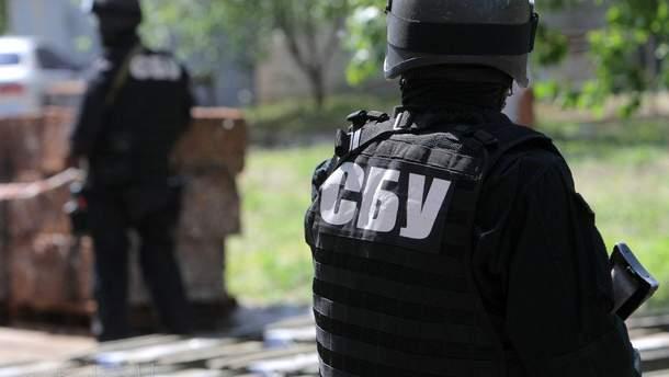 СБУ відсторонила співробітника, який брав участь у акції під будинком антикорупціонера Шабуніна
