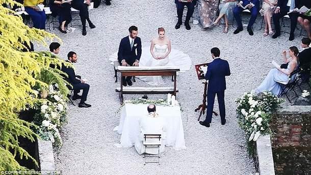 Джессика Честейн вышла замуж в Италии