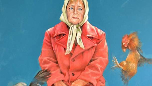 Ангела Меркель в роли беженца