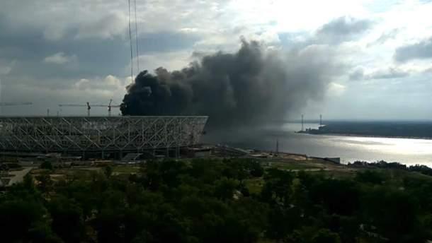 Пожар на стадионе ЧМ 2018 в России