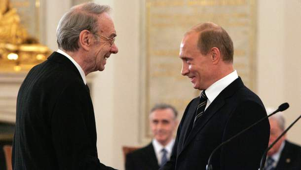 Алексей Баталов и Владимир Путин