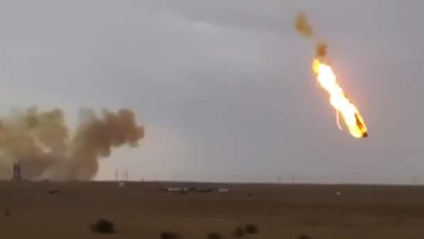 Падіння частини ракети у Казахстані