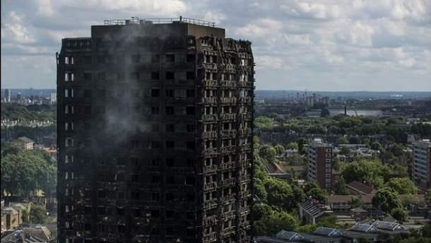 Пожар в лондонской многоэтажке