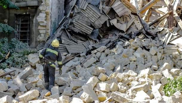 В Измаиле обвалился частный жилой дом