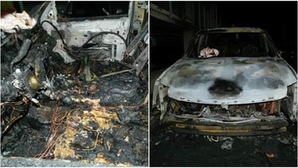 Пожар на парковке в Киеве