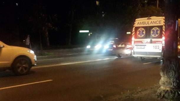 Місце аварії у Києві